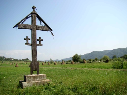 Troita Crucea-din-locul-numit-La-mocirla-in-Salva-unde-au-fost-trasi-pe-roata-Sfintii-Martiri-Nasaudeni