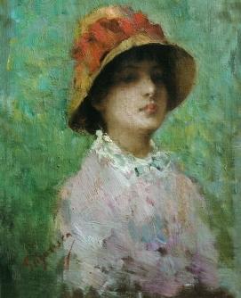 Nicolae_Grigorescu_-_Portret_de_femeie_cu_palarie
