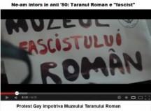 Muzeul Taranului Roman Protestul-homosexualilor-impotriva-Muzeului-Taranului-Roman-300x221