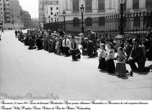 Basarabia 28 iunie 1940 - România cedează Basarabia, Bucovina de Nord și ținutul Herța la presiunea Uniunii Sovietice