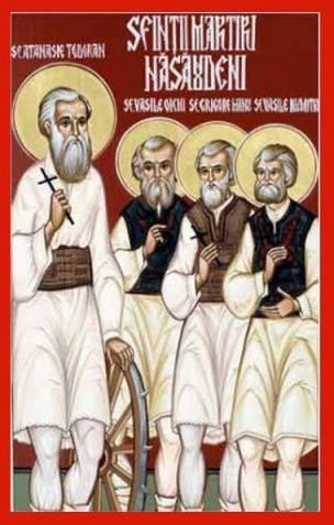 icoana Sfinții Martiri și Mărturisitori Năsăudeni: Atanasie Todoran din Bichigiu, Vasile din Mocod, Grigore din Zagra și Vasile din Telciu