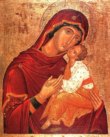 "icoana Icon of the Mother of God of Mt. Athos, ""Sweet Kissing"""