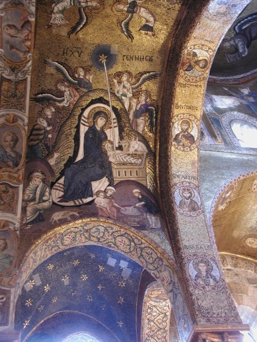 icoana Nasterea Mantuitorului Biserica Martorana Palermo