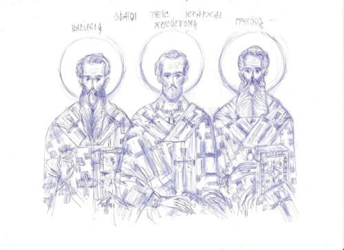 iacoana Sfintii Trei Ierarhi Albastrude