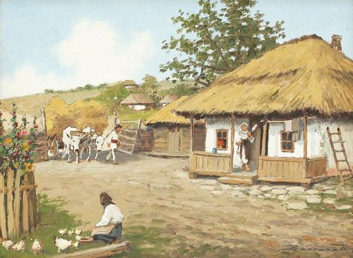 pictura Ludovic Bassarab – Intoarcerea carelor cu fan