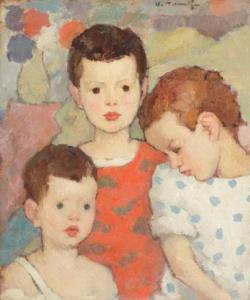 copii nicolae-tonitza-trei-frac89bi-copiii-pictorului