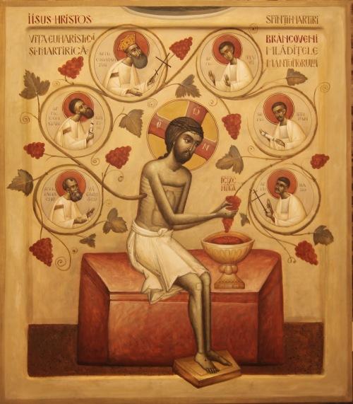 icoana Sfintii Martiri Brancoveni - mladite atelier de lucru, muzeul Cotroceni, mai 2014, Ioan Popa (3)