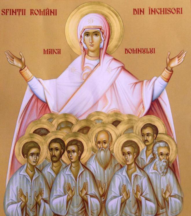 Maica Domnului cu sfintii de la Aiud sfintii inchisorilor