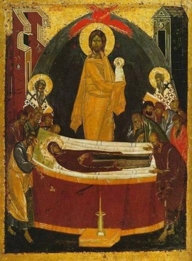 icoana Adormirea Maicii Domnului de Teofan Grecul