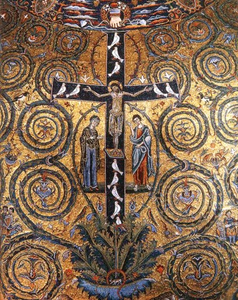 Detail of the apse, San Clemente, Rome, 12th cent.