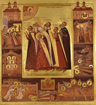 Sfintii Martiri Brancoveni iconar Elena Murariu